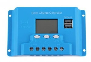 Regulator kontroler solarny 30A 12V/24V LCD USB